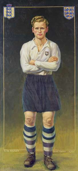 Tom Finney, Preston North End and England, 1951 (oil on canvas)