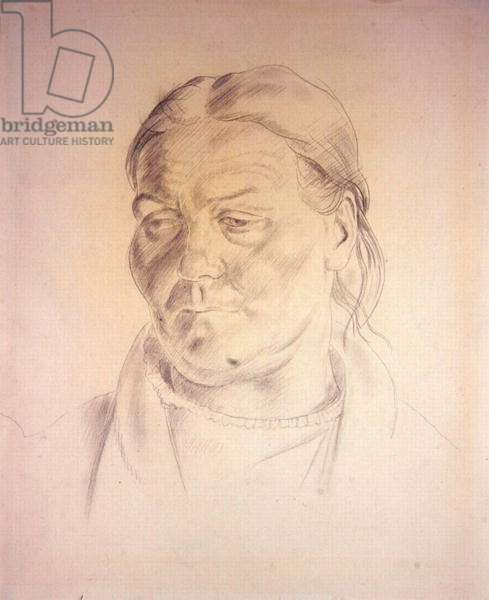 Portrait of an Old Woman, 1939 (pencil on paper)