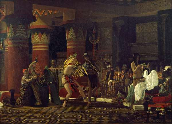 Pastimes in Ancient Egypt, 3000 Years Ago, 1863 (oil on canvas)