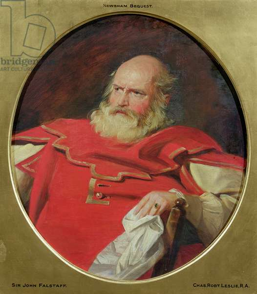 Sir John Falstaff, c.1840 (oil on canvas)