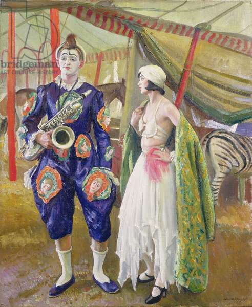 A Musical Clown, 1930 (oil on canvas)