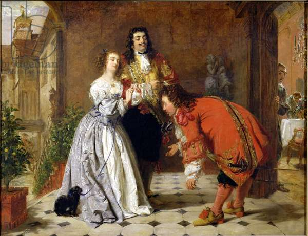 Scene from Moliere's 'The Would-be Gentleman', 1848 (oil on canvas)