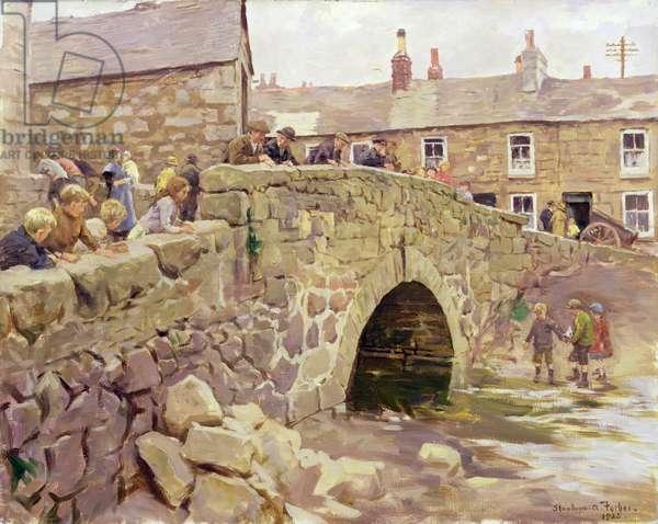 On the Bridge, 1925 (oil on canvas)