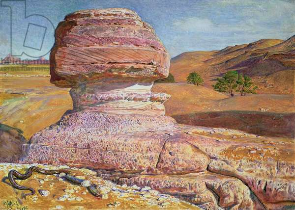 The Sphinx at Gizeh, 1854 (w/c and gouache)
