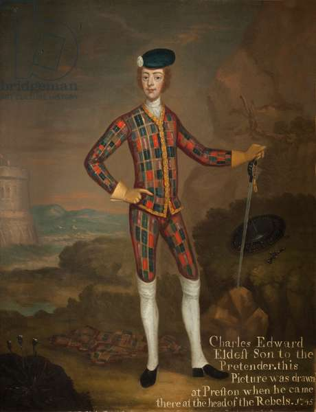 Prince Charles Edward Stuart, Son of the Old Pretender, 1745 (oil on canvas)