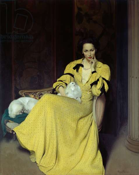 Pauline in the Yellow Dress, 1944 (oil on canvas)
