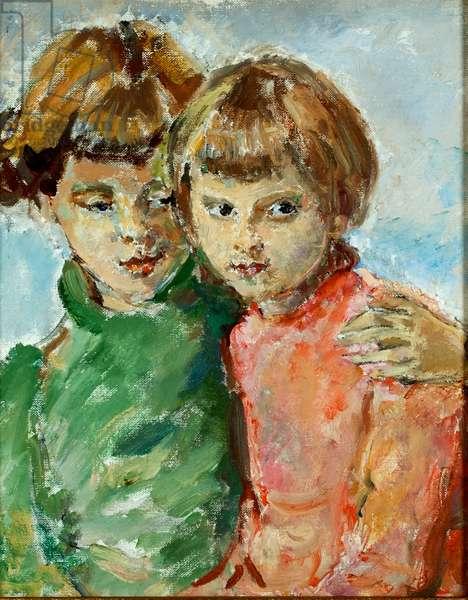 Iris and Kathleen (oil on canvas)
