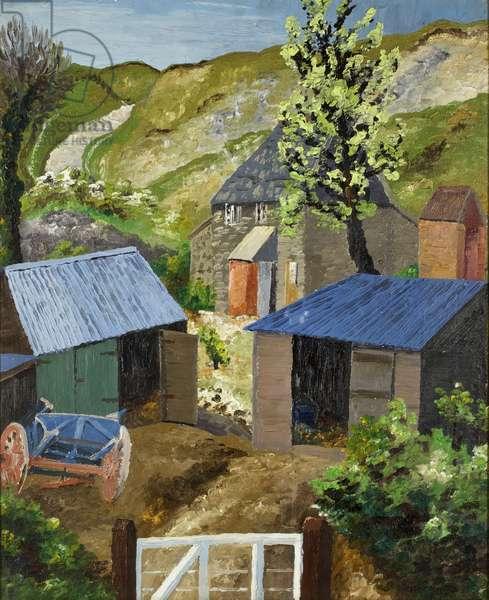 The Farmyard, Dorset, 1928 (oil on canvas)