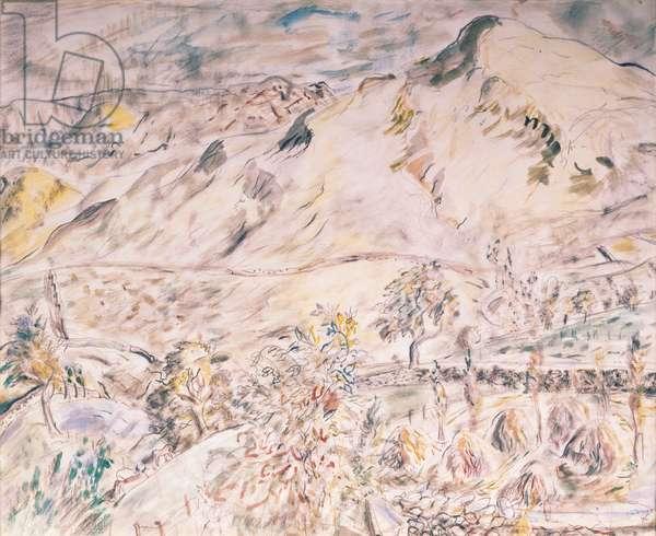 Hill Stooks, Matterdale, 1946 (w/c)