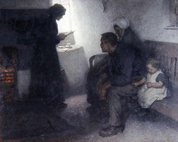 Reading the Letter, 1906 (oil on canvas)