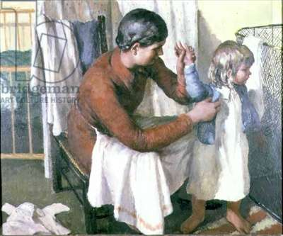 Going to Bed, 1946 (oil on canvas)