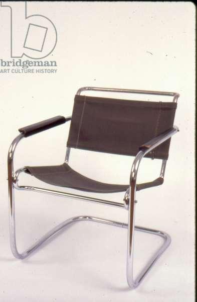 Armchair, 1926 (tubular steel & canvas)