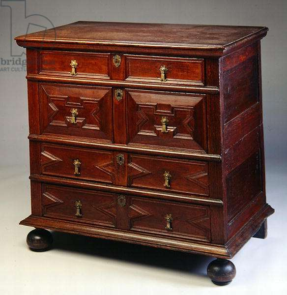 Chest of drawers, from Boston, 1670-1700 (wood)