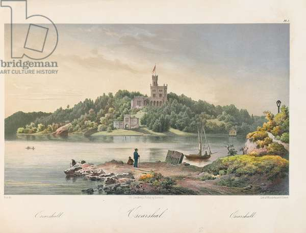 View of Oscarshal, 1852 (colour litho)