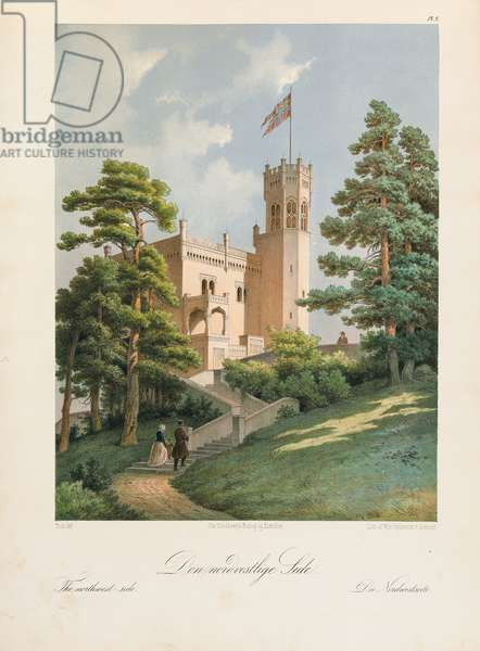 Oscarshal Northwest Side, 1852 (colour litho)