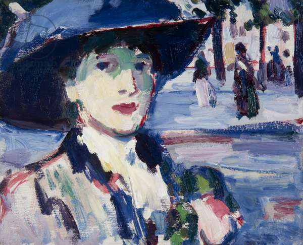 Anne Estelle Rice in Paris, 1905-10 (oil on board)