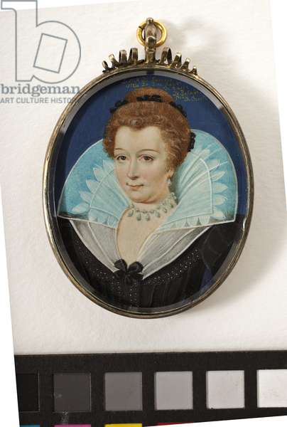 Louise Marguerite of Lorraine (w/c on ivory)