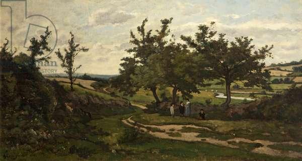 Paysage, 1886 (oil on canvas)