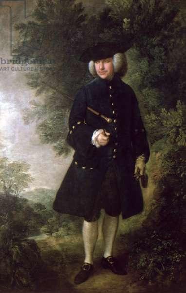 Portrait of Dr. Rice Charleton (1710-89) c.1764 (oil on canvas)