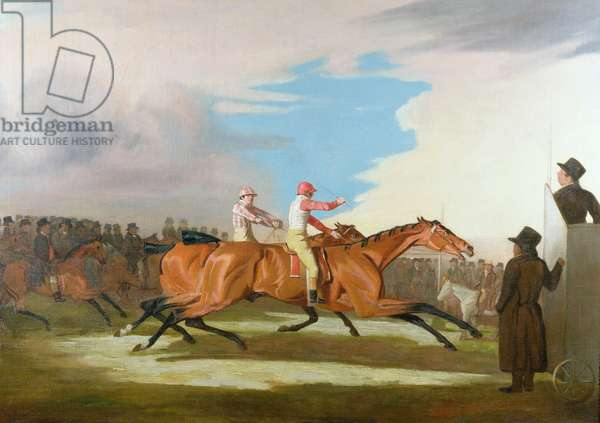 Match between Colonel Henry Mellish's 'Eagle' and Sir Charles Bunbury's 'Eleanor', Newmarket, 31st October 1804 (oil on canvas)