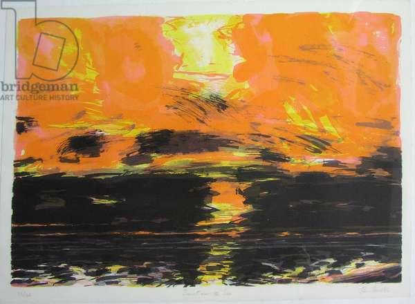 Sunset over the Sea (screenprint)
