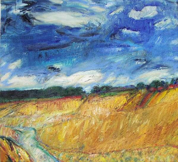 Autumn in Fife, 2001-02 (oil on canvas)