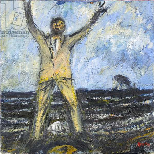 Celebration at the Bass Rock, 1991 (oil on canvas)
