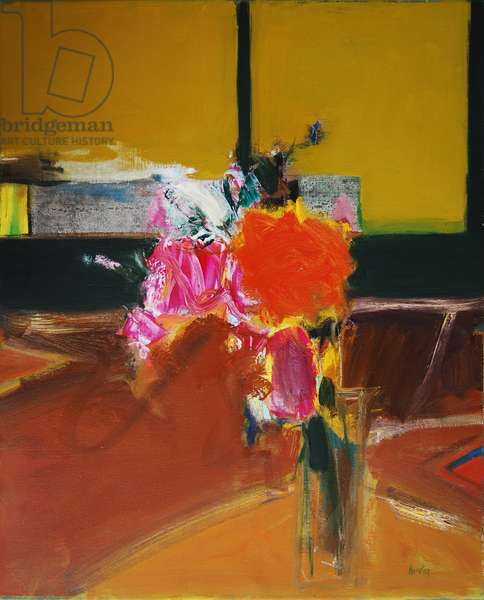 Flowers in a Room (ii) (oil on canvas)