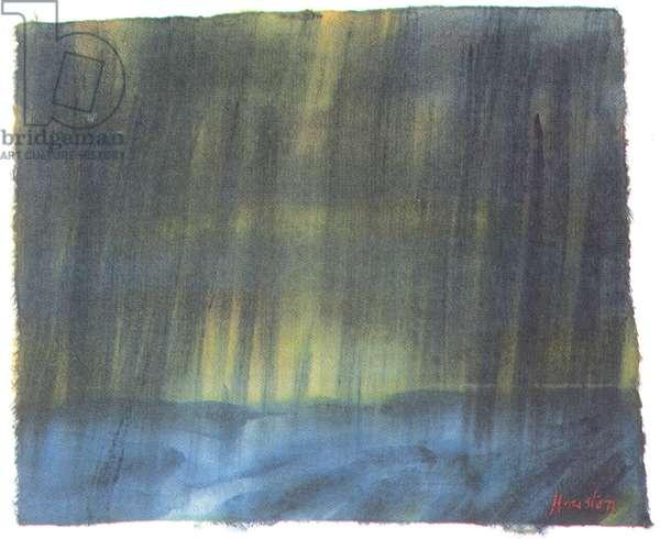 Rainstorm, Largo Bay, 2003 (w/c on paper)