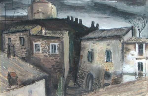 Stormy Day, Orvieto (w/c on paper)