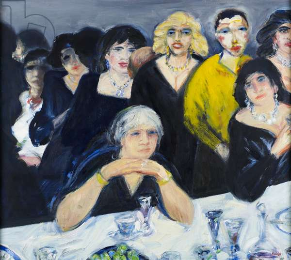 The Party, New York I, 1985-94 (oil on canvas)
