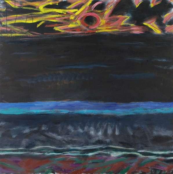 Dark Sea (oil on canvas)