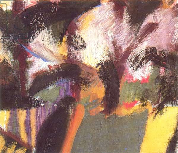 Garden with Cherry Blossom, 2003 (oil on canvas mounted on board)