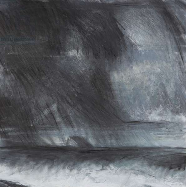 Houston - Rainstorm over the Bass Rock (pastel on paper)