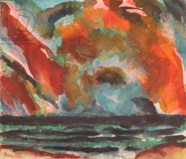 Summer Evening Bass Rock, 2007 (w/c on paper)