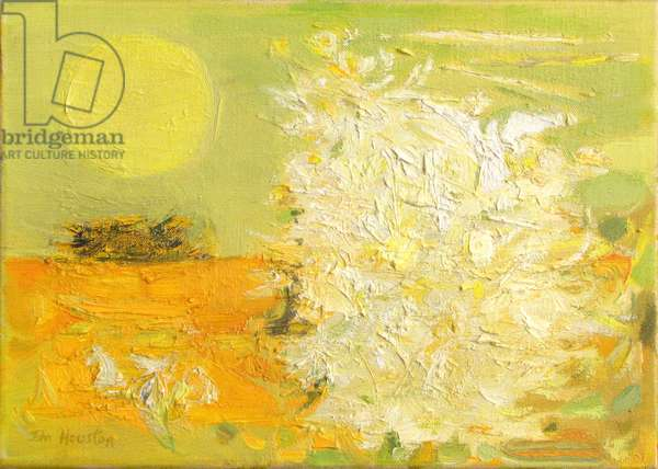 Bird, Bush and Yellow Sun, Autumn, 1961 (oil on canvas)