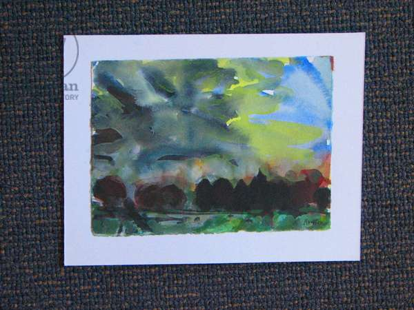 Evening Landscape near Colinsburgh, 2004 (w/c on paper)