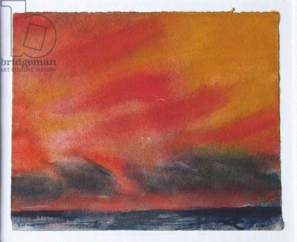 Evening Sky, Black Sea (w/c on paper)