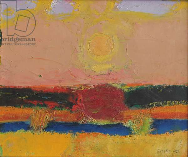 Indian Summer, Wisconsin, 1969 (oil on canvas)