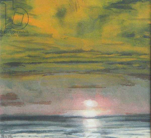 Sea and Evening Sky, Gullane, 1996 (w/c on paper)