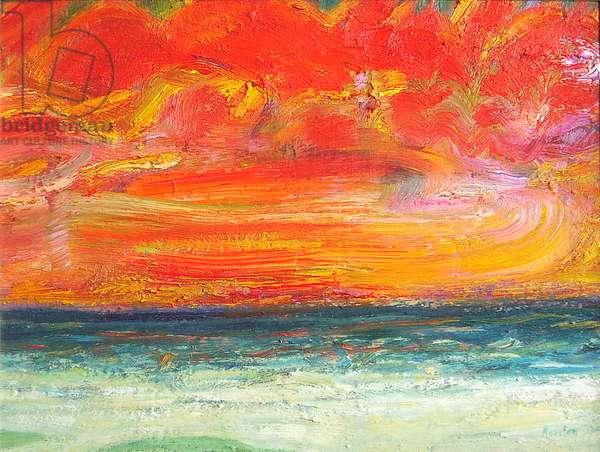 Sunset Sea, Morar, 2003 (oil on canvas)