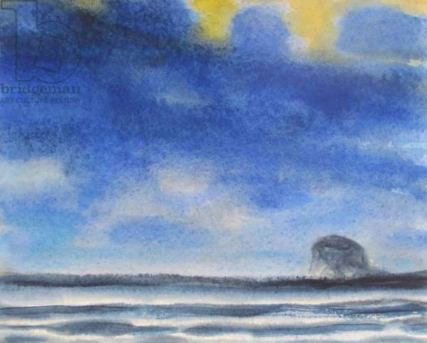 Houston - Bass Rock and Blue Sky (w/c on paper)