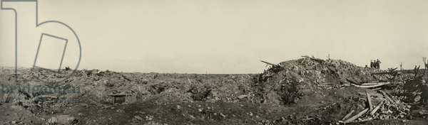 View at Mouquet Farm, Somme, France, July-September 1916 (b/w photo)