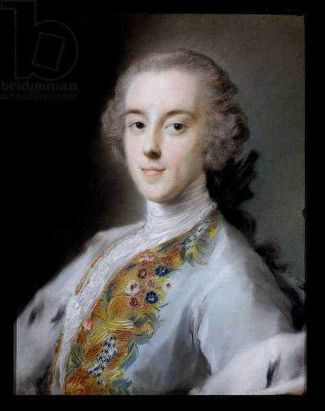Portrait of Horace Walpole (1717-97) c.1741 (pastel)