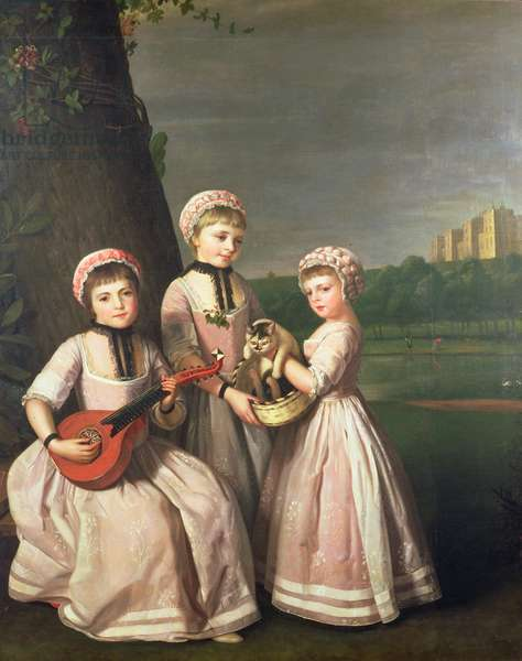The Ladies Waldegrave, 1768 (oil on canvas) (see 87892 for detail)