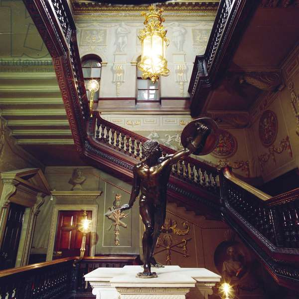 View of the Great Staircase, Holkham Hall, Norfolk (photo)