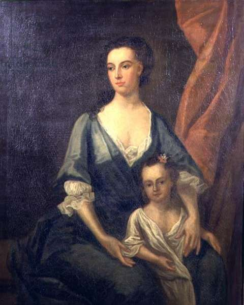 Portrait of Catherine Shorter with Horace Walpole (1717-97) c.1720 (oil on canvas)