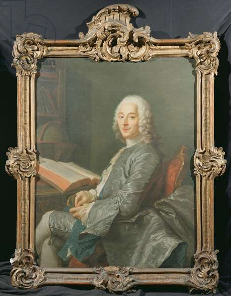 Portrait of Duval de l'Epinoy, 1745 (oil on canvas)