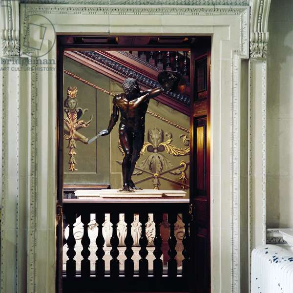 Houghton Hall, View of the Gladiator from the Stone Hall, Norfolk, UK(photo)