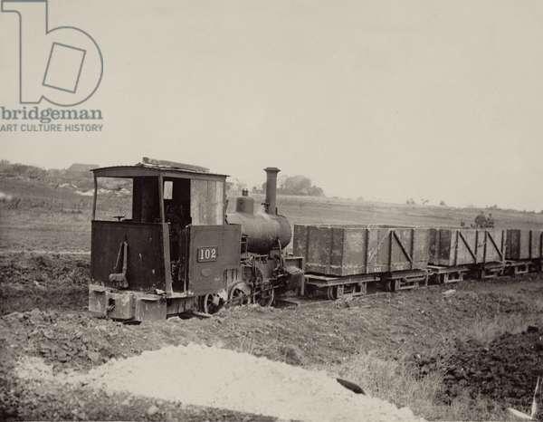British light railway on the Western Front, 1914-18 (b/w photo)
